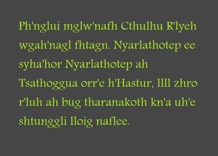 Chtuvian Ipsum