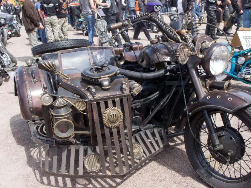 Helsinki Bike Show Steampunk1