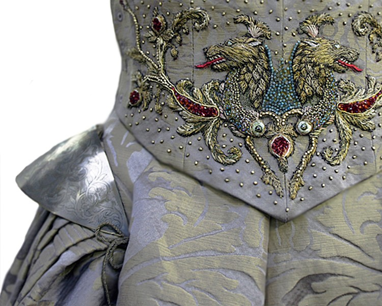 Michele Carragher Sansa Wedding Dress Detail9