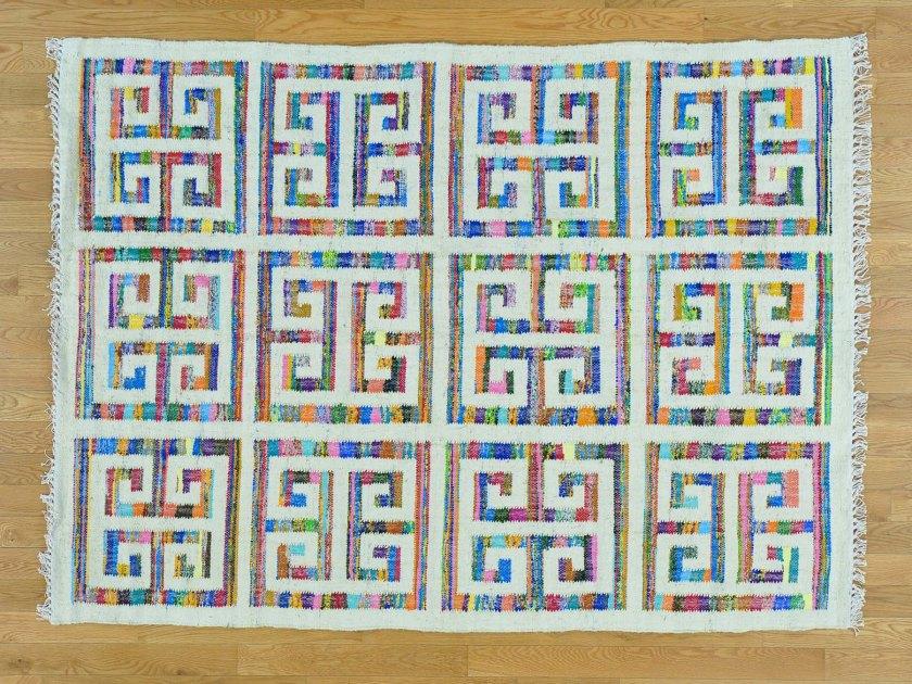 1800getarug Kilim Wool Sari Silk Rug