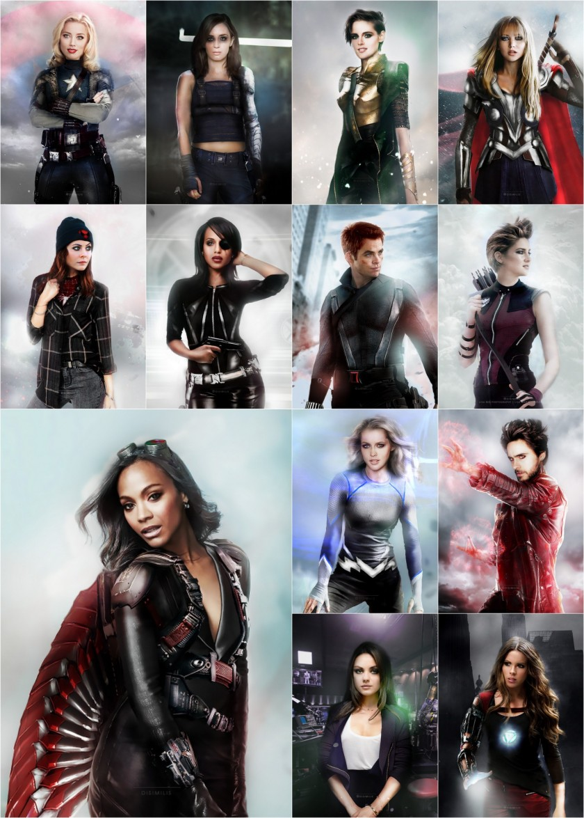 Gender-Swapped Avengers