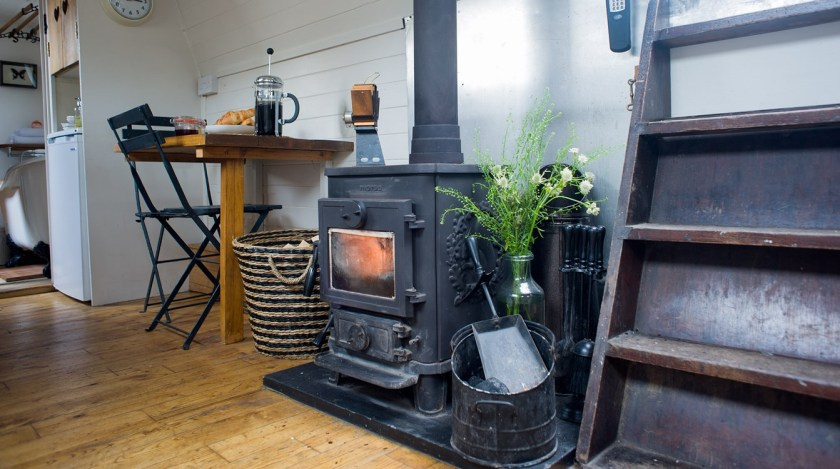 Plum Guide Velvet Morning Woodstove