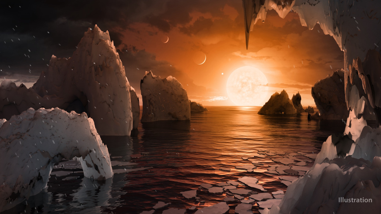 NASA Tumblr Trappist-1 Illustration Planet