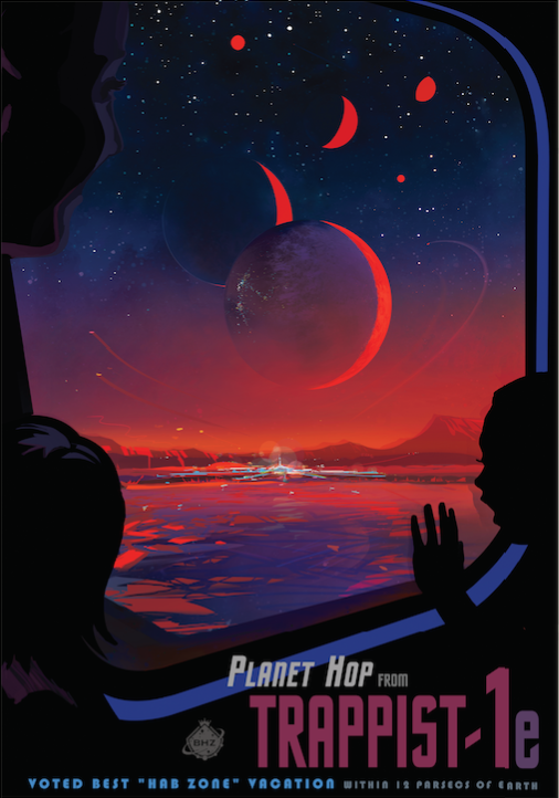NASA Tumblr Trappist-1 Illustration Poster