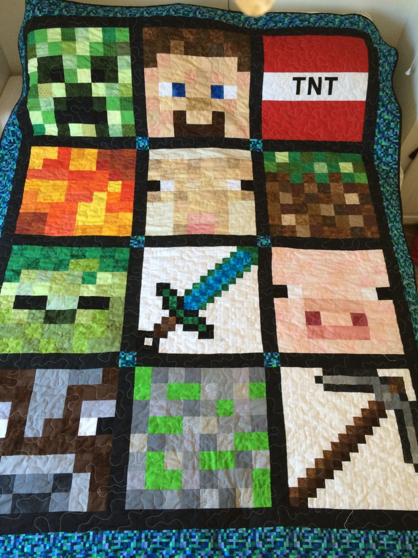 Knittette Quilting Board Minecraft Quilt