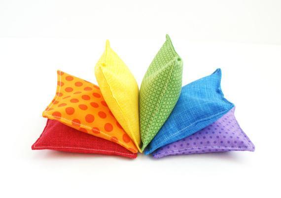 Etsy GrandmasChalkboard Rainbow Bean Bag Set