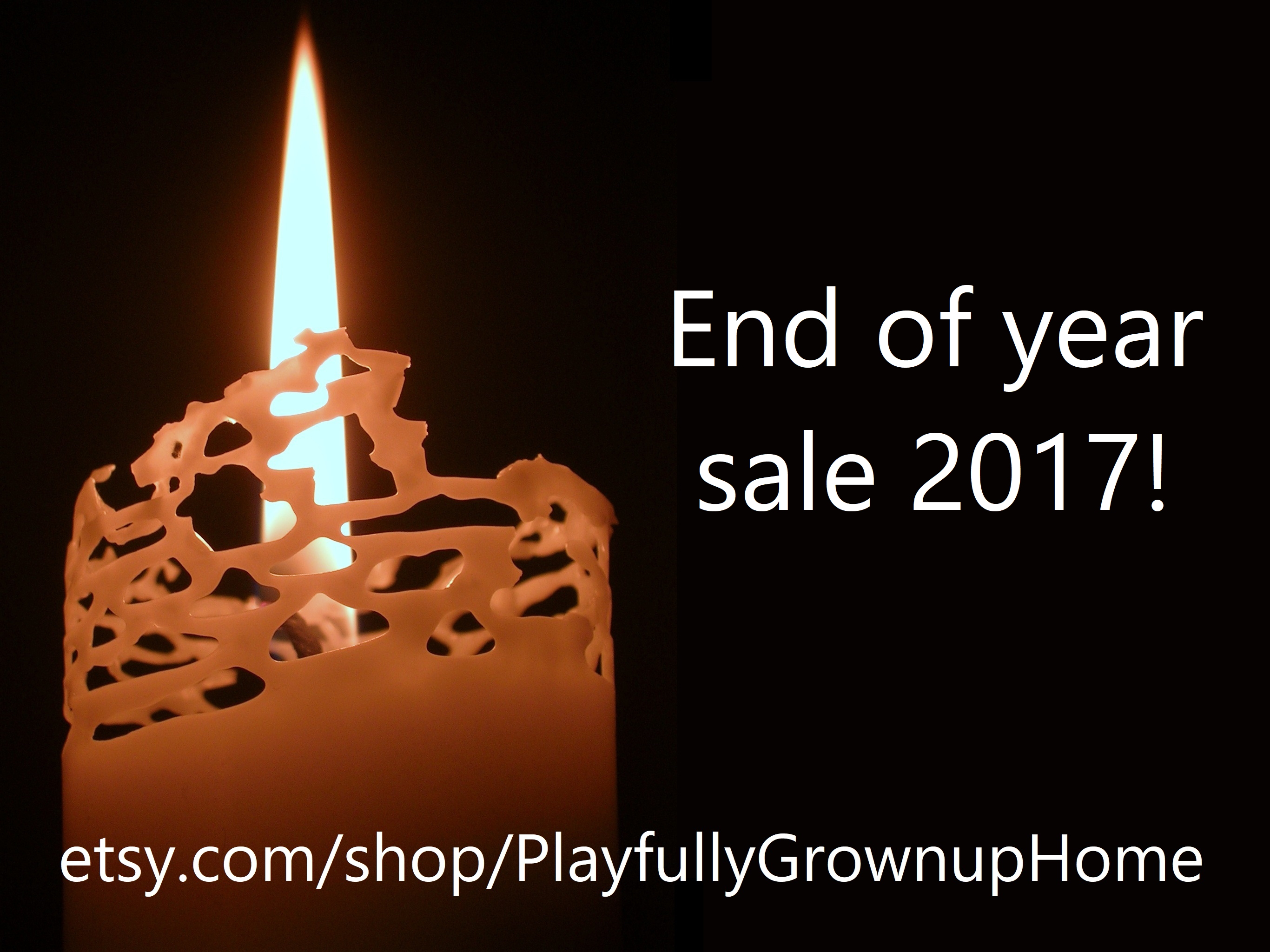 2017 End of Year Candle