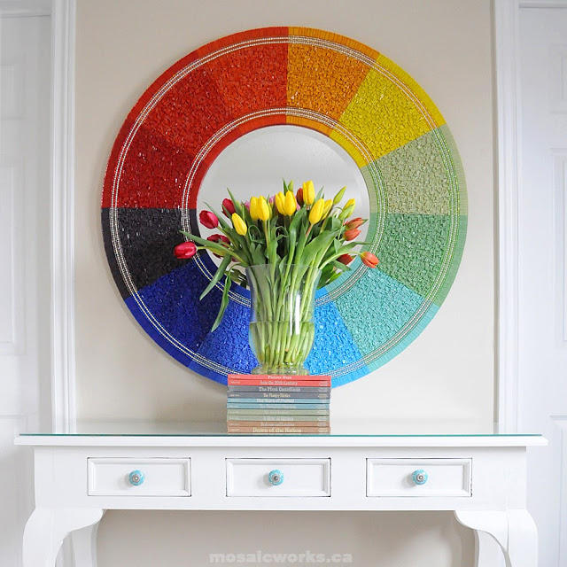 Mosaicworksca Blogspot Karen Johnston Colour Wheel Mirror