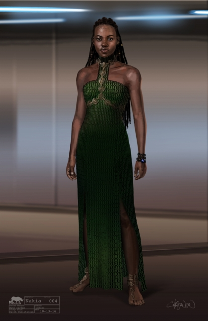 PRI Keith Christensen Marvel Studios Black Panther Nakia Casino Dress Concept