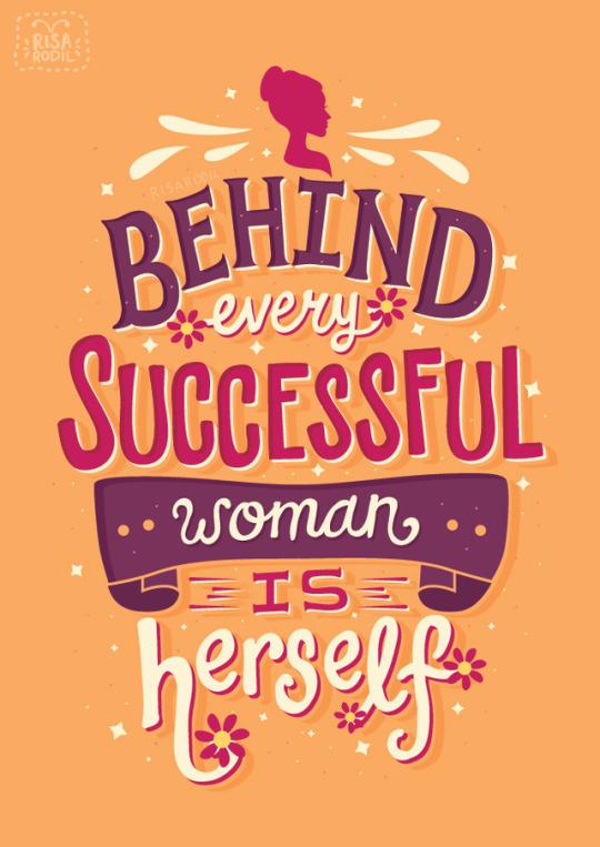Tumblr Risa Rodil Poster Successful Woman Herself