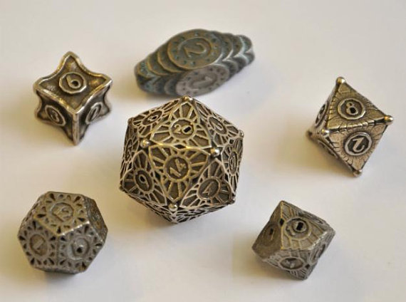 Etsy MajesticTrinkets Art Deco Dice Set