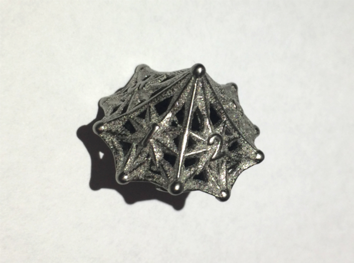Shapeways Majestic Trinkets D10 Spindown Nickel