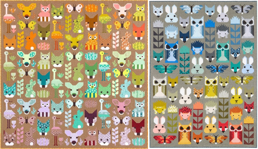 Elizabeth Hartman Fancy Forest and Delightful Desert Collage