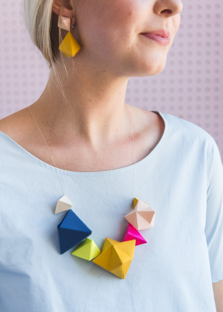 The House That Lars Built Paper Earrings Necklace