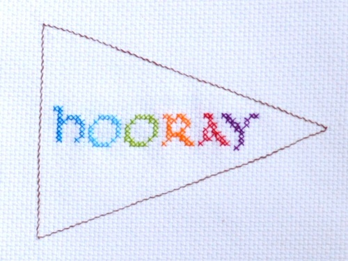 Hooray Cross Stitch