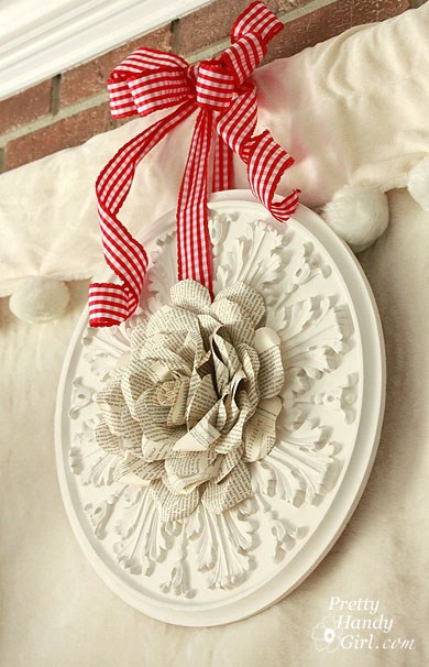 Pretty Handy Girl Brittany Bailey Book Page Rose Wreath