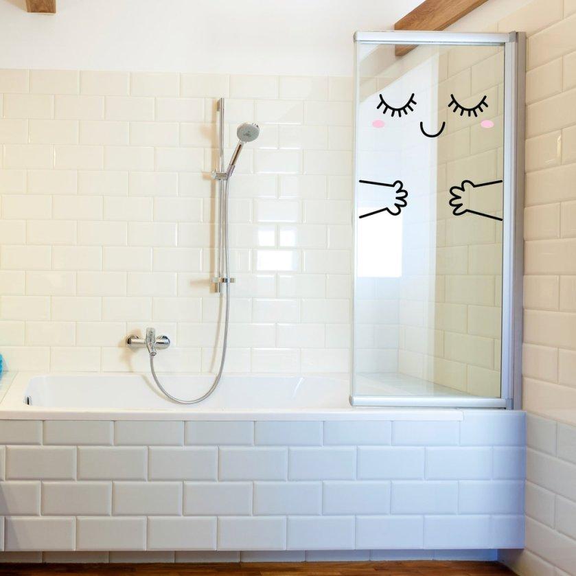 Made of Sundays Door Hug Decal Bathroom