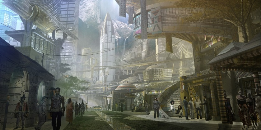 Collider Marvel Studios Wakanda City Concept