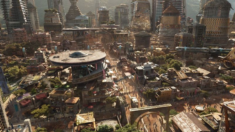 Los Angeles Times Marvel Studios City Concept Low-Built Area
