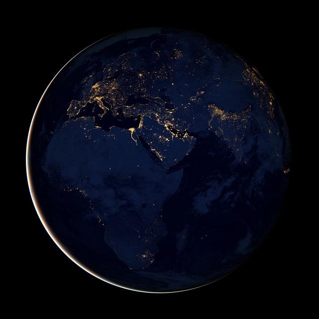 Flickr NASA Goddard Black Marble Africa Europe Middle East