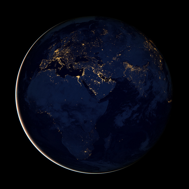 Flickr NASA Goddard Black Marble Africa Europe Middle East