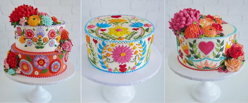 Instagram Leslie Vigil Cake Collage Embroidery