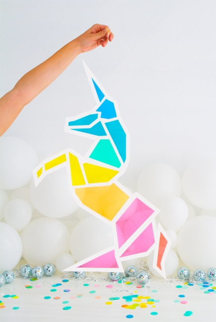 Oh Happy Day Stained Glass Unicorn