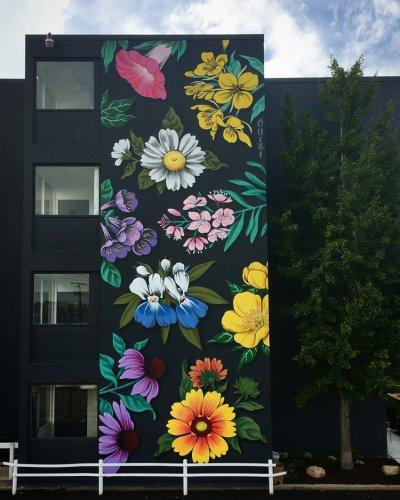 Ouizi Trumbull Porter Hotel Exterior Mural