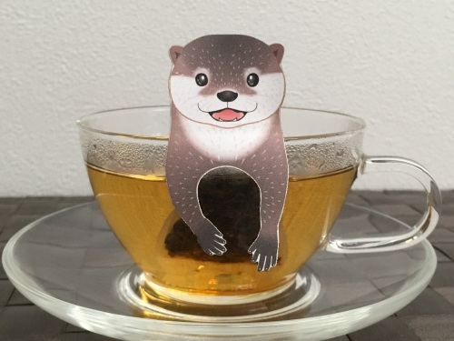 Ocean Tea Bag Otter in Cup