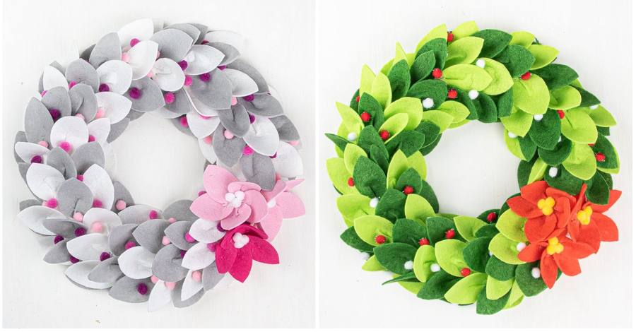 Country Hill Cottage Cyna DIY Felt Wreaths