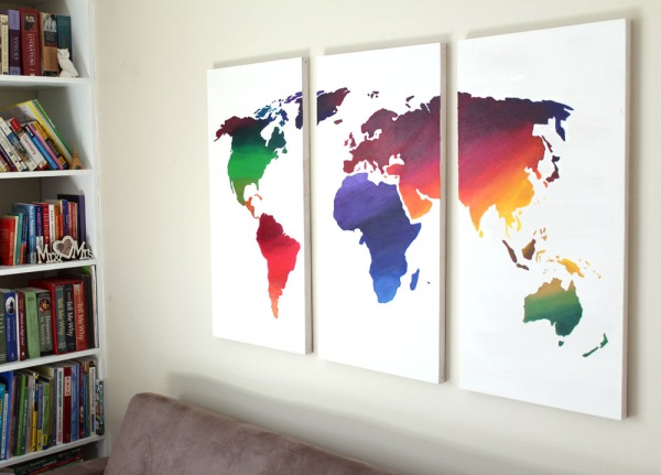 Just Measuring Up Ash Eileen Rainbow Ombre World Wall Art2