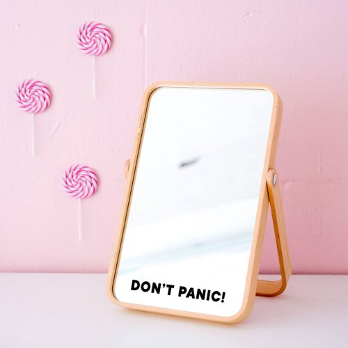 Made of Sundays Dont Panic Mirror Decal