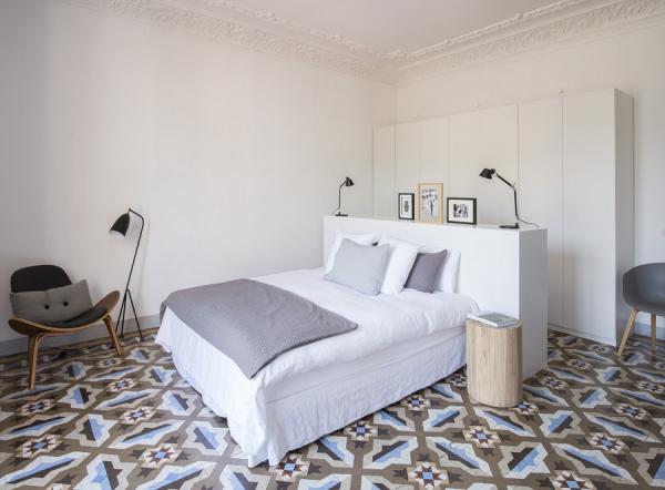 Espacio en blanco Eixample Barcelona Bedroom
