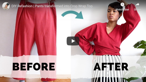 Tiffany Michey Pants into Crop Wrap Top Screencap