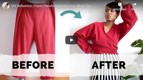 Tiffany Michey Pants into Crop Wrap Top Screencap