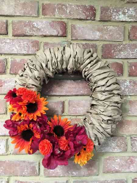 Crafty Little Gnome Adrienne Paper Bag Wreath