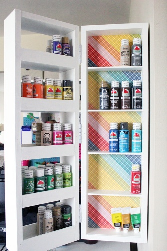 Just Measuring Up Ash Eileen Rainbow Swing-out Wall Shelves2