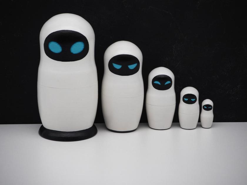 Etsy VseruKami Oksana Wall-E Eva Robot